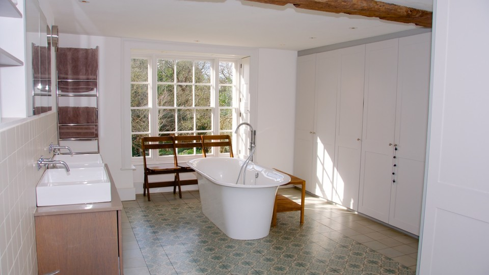 Restored and enlarged bathroom